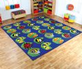 Back to Nature Square Bug Placement Carpet,SPECIAL NEEDS teaching resources, school equipment, educational supplies, hope education discount code, pre-school, Furniture, Soft Furnishings,Carpets, Back to Nature Square Bug Placement Carpet - 3 x 2m